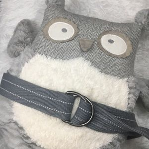 Other - Mens Unisex Grey White Canvas Double Ring Belt 34